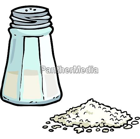 cartoon doodle salt shaker on a