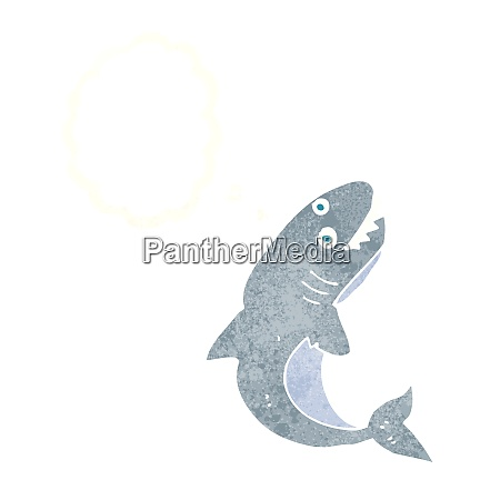 cartoon shark with thought bubble