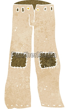 cartoon patched old pants