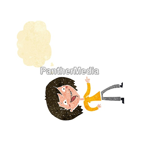 cartoon woman laughing and pointing with