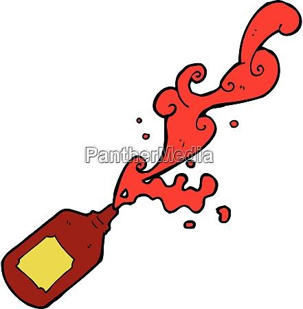 cartoon squirting ketchup