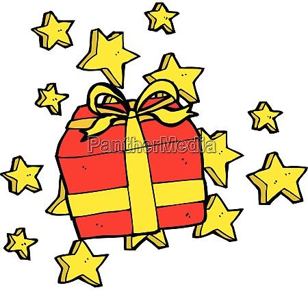 cartoon christmas presents