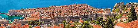 historic town of dubrovnik panoramic view