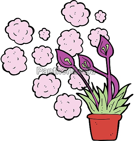 cartoon exotic flowers