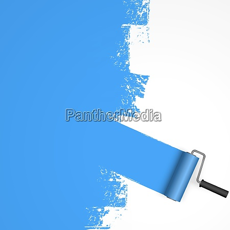 paint roller concept with marking