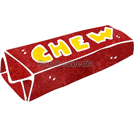 retro cartoon chewing gum