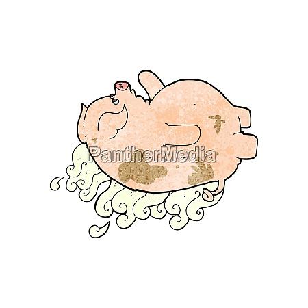 cartoon fat smelly pig