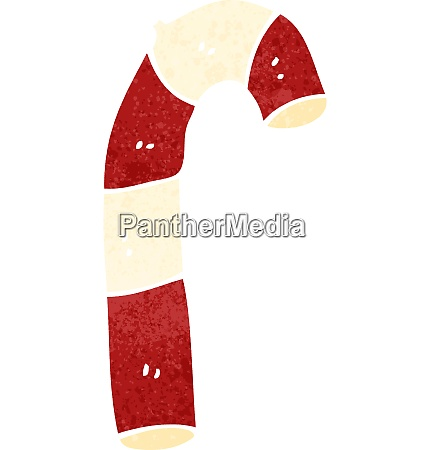 retro cartoon christmas candy cane