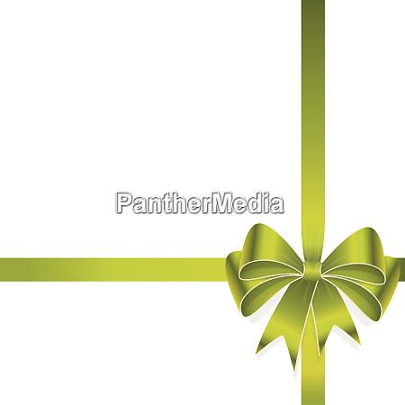 green colored ribbon bow