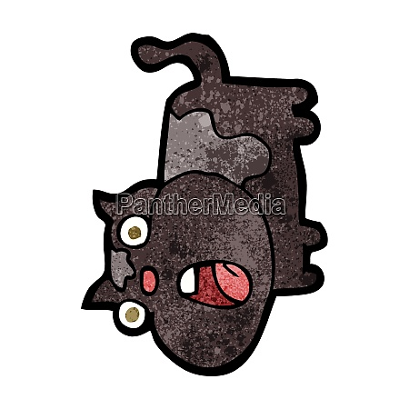 cartoon shocked cat