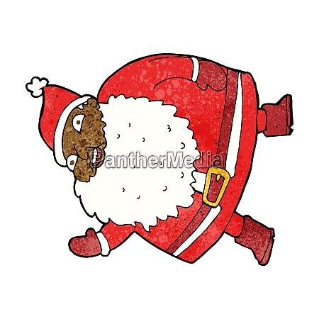 funny waving santa claus cartoon
