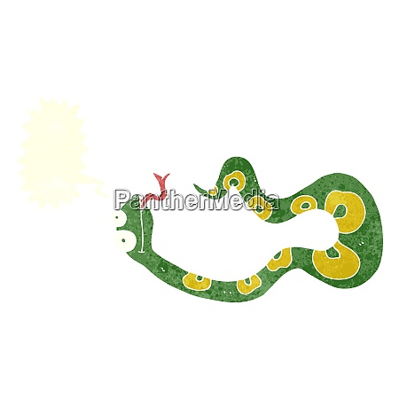 cartoon snake with speech bubble