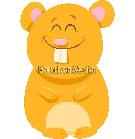 cute hamster cartoon animal character