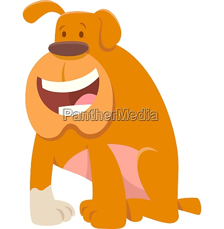 funny bulldog dog cartoon character