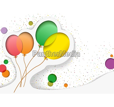 birthday card with balloons in the