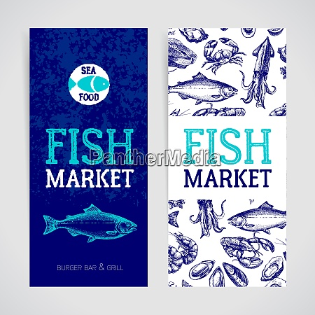 restaurant fresh sea food menu banners