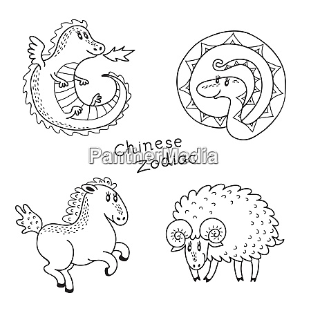 set signs of the chinese zodiac
