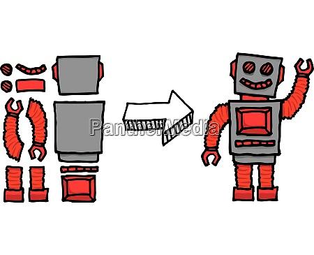 assembling a robot