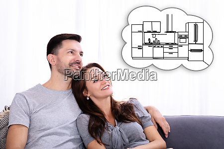 couple dreaming about new kitchen