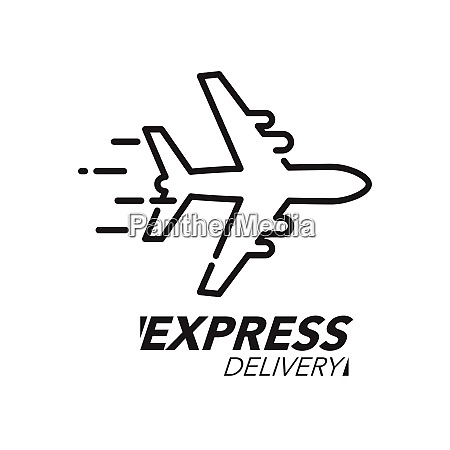 express delivery icon concept plane speed