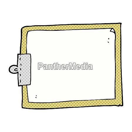 freehand drawn cartoon clipboard