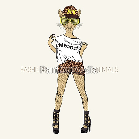 anthropomorphic design fashion illustration of