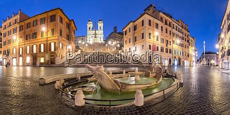 piazza di spagna at night rome
