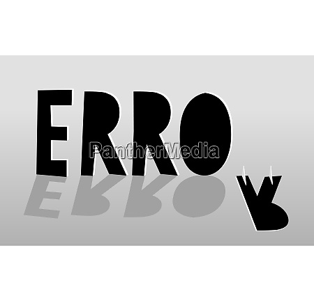 cartoon illustration of error fail sign