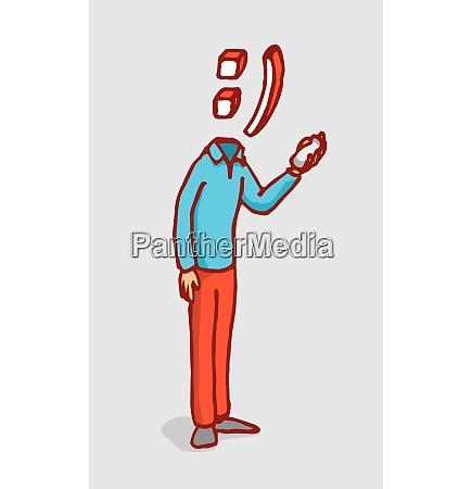 cartoon illustration of man with smile