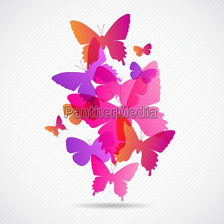 vector butterflies background design collorfull eps