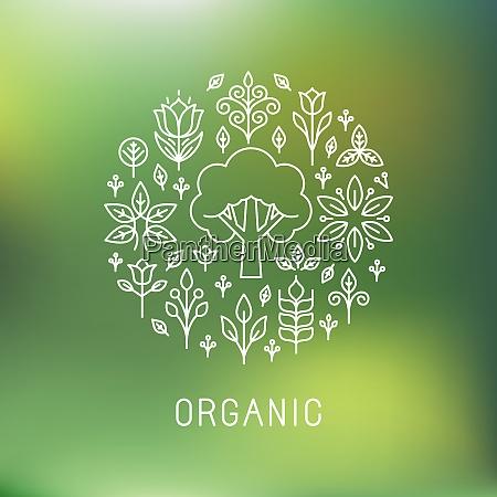 vector organic logo outline circle