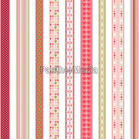 set of hand drawn lace braid
