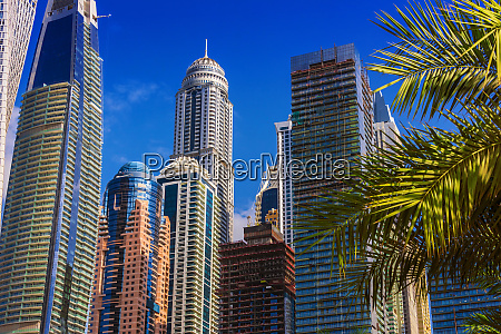modern residential architecture of dubai marina