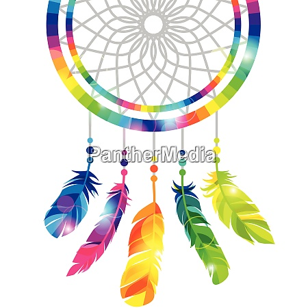 dream catcher with abstract bright transparent
