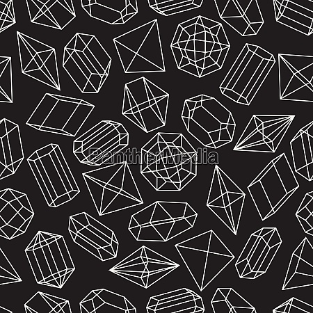seamless pattern with geometric crystals and