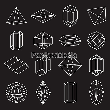 set of geometric crystals gem and