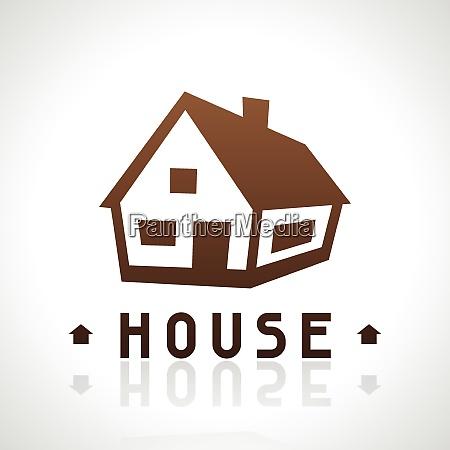 house logo template real estate design