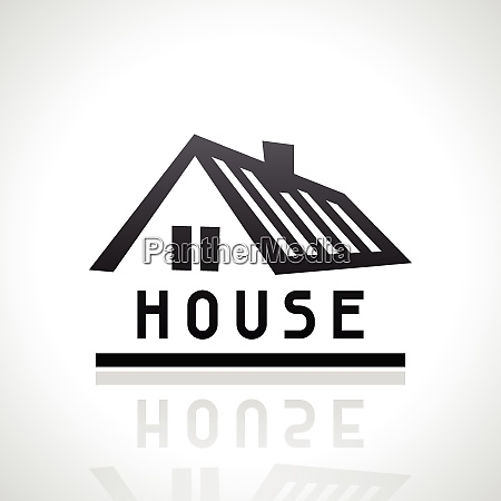 house logo template real estate design