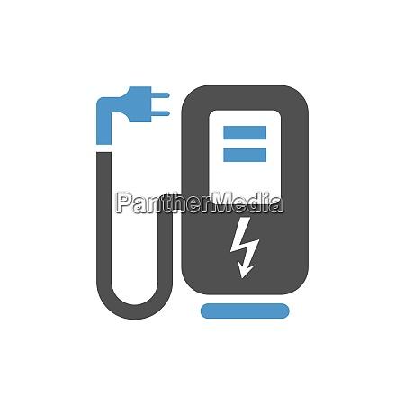 car service icon electro refuelling