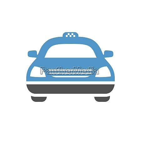taxi car gray blue icon