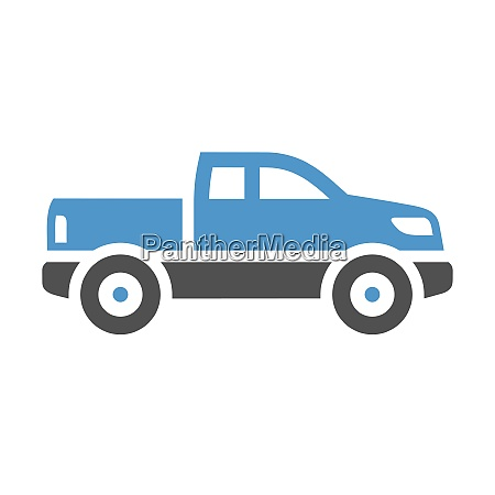 vehicle flat icon suv gray