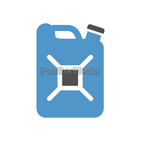 jerrycan gray blue icon isolated