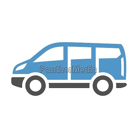 vehicle flat icon car gray