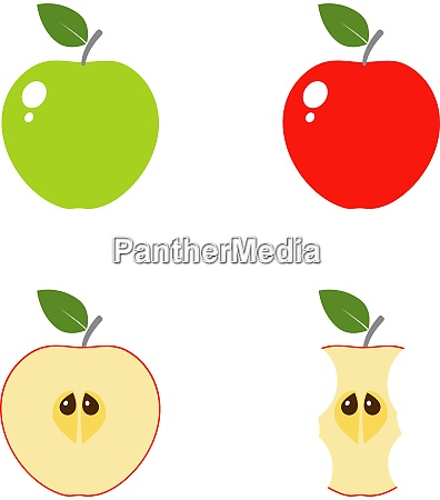 set of apple vector icons