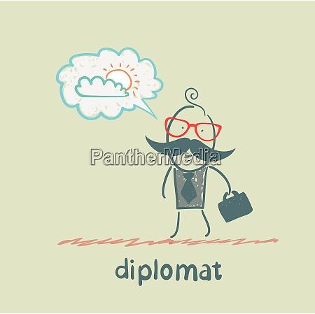 diplomat dreaming of sunshine