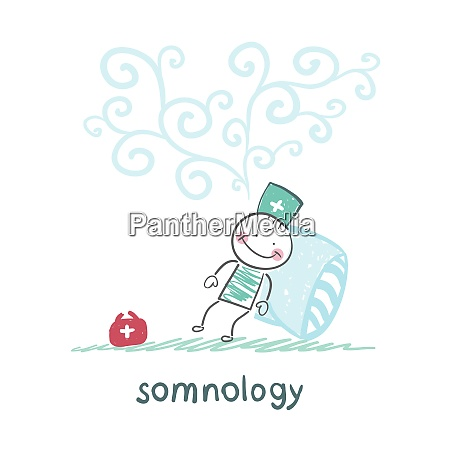 somnology fell asleep and he dreams