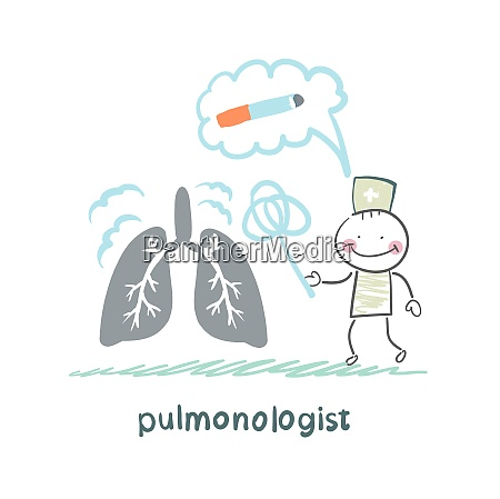 pulmonologist knocks dust from the human