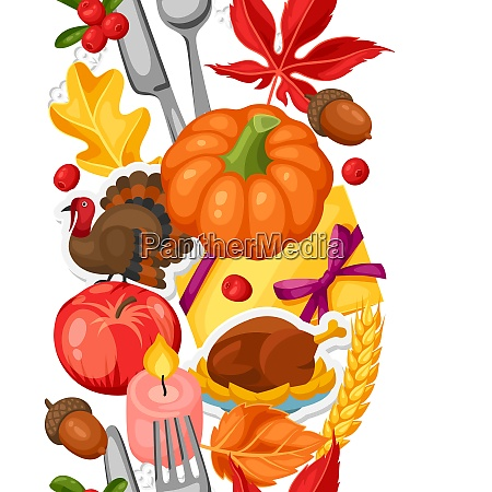 thanksgiving day seamless pattern ornament with