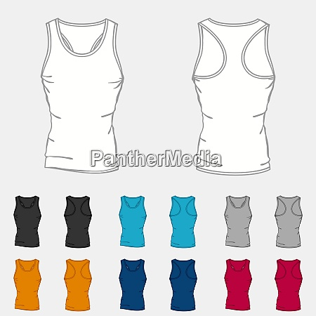 set of colored singlets templates for