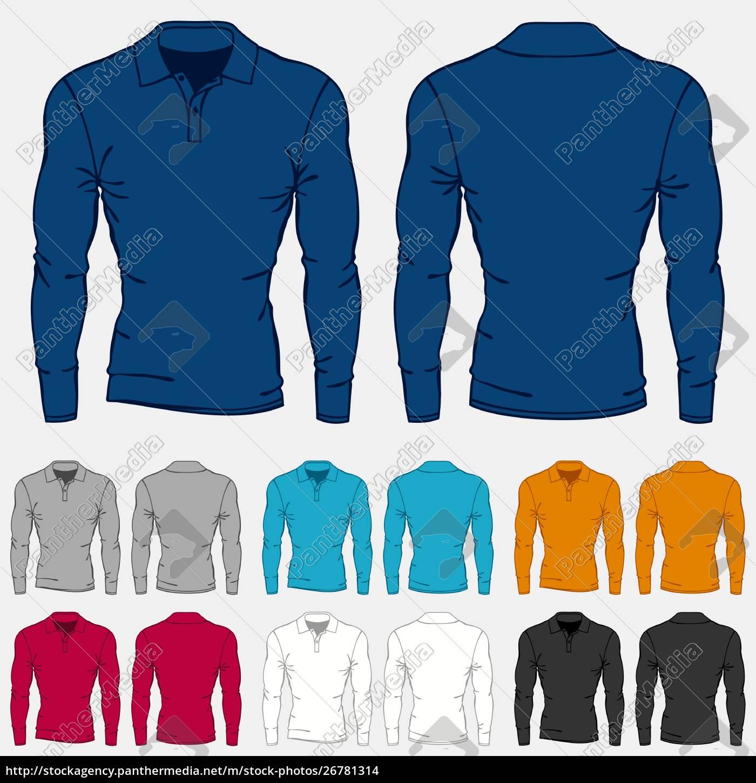 set, of, colored, long, sleeve, polo-shirts - 26781314